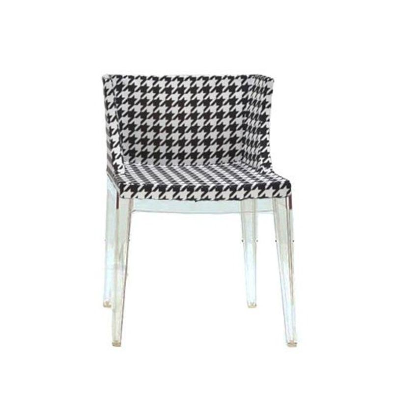 cadeira mademoiselle pied de pole base transparente novoambiente. Black Bedroom Furniture Sets. Home Design Ideas